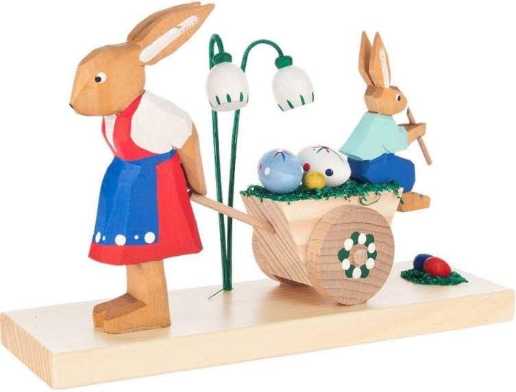 4.5 H x 6.75 W x 2.25 D Alexander Taron 225-063 Dregeno Easter Figures Brown Rabbit Mother and Son