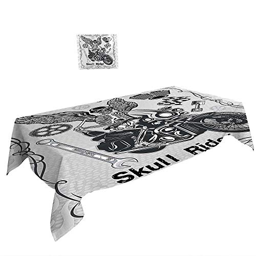 Rectangular Table Cloth for Foot Table in Washable Polyester W60 x L84 INCH,Kitchen Coffee with Roasted Beans Concept Collage Hearts Stars Espresso Latte Mugs Aroma Brown White. Suitable for all - Table Cafe Runner Latte