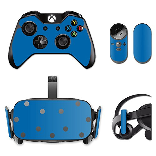 MightySkins Protective Vinyl Skin Decal for Oculus Rift CV1 wrap cover sticker skins Solid Blue by MightySkins