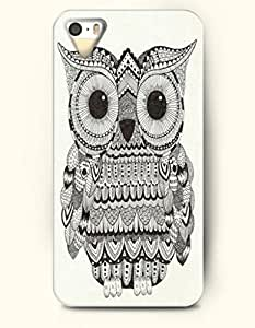 iPhone 5 5S Hard Case (iPhone 5C Excluded) **NEW** Case with Design Aztec Owl- ECO-Friendly Packaging - Black...