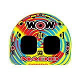 WOW World of Watersports, Macho Towable Tube, Boat Tube, Multiple Riding Positions - Macho Combo 1-2 Person Deck Tube