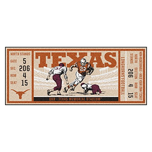 Texas Rug Longhorns - FANMATS NCAA Texas Longhorns University of Texasticket Runner, Team Color, One Size