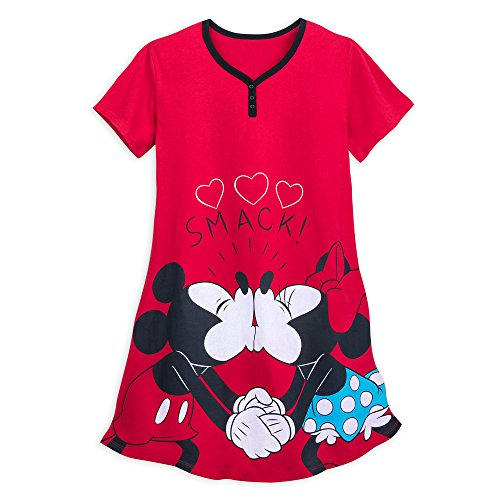 Minnie Mouse Disney Mickey (Disney Mickey and Minnie Mouse Nightshirt for Women Size Ladies 3XL Multi)
