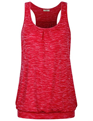 Miusey Womens Sleeveless Round