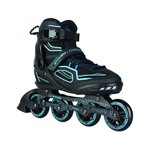 SPOKEY® TARON Inline Skates (Kinder Damen Herren Inline Blades ABEC 7 Karbon Aluminium Größen 37-46), Farben:Blau;Größe/Size:43