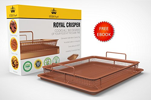 Royal Copper Crisper Tray Air Fryer by Kitchen Royale