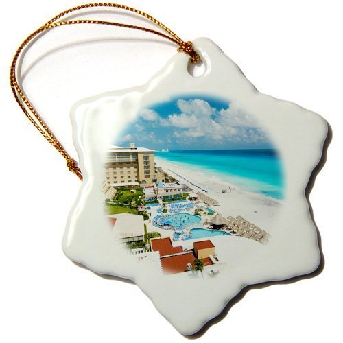 (Ditooms Resort, Cancun, Mexico-Sa13 Gjo0171-Greg Johnston-Snowflake Ornament, 3-Inch, Porcelain)