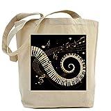 CafePress Unique Design Mixed Musical Notes black go Tote Bag - Standard