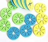 mini fridge mat - YOYOSTORE 100 Pcs Mix Color Mini Socks Stocking Hose Clip Holder Organizer Rack Laundry Supplies