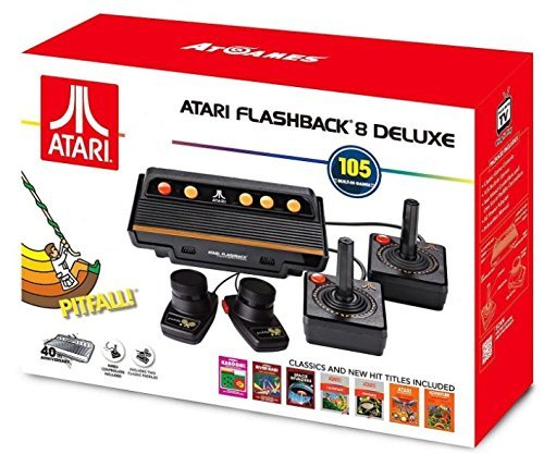 (Atari Flashback 8 Deluxe with 105 games - 2 Wired controllers and 2 Wired Paddles)
