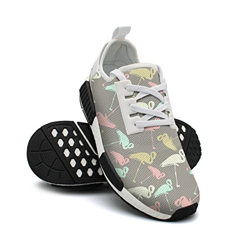 FAAERD Womens Shoes Sneakers of Walking Group Breathable Cute Shoes Fashion Lightweight Flamingos Print Mesh rrnxaWFP