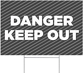 CGSignLab 5-Pack Nostalgia Stripes Double-Sided Weather-Resistant Yard Sign Keep Out 27x18
