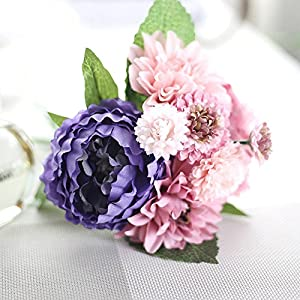 DHD Wedding Bride Hand Bouquet Rosemary Peony Flower Bouquet Vivifying Flower Home Furnishing And Decorative Flower 3