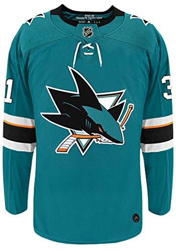 52e8046a7 Amazon.com   Martin Jones San Jose Sharks Adidas Authentic Home NHL Hockey  Jersey   Sports   Outdoors