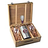 FSU Florida State University Wine Glasses Gift Set with Wine Stopper and Chiller