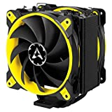 ARCTIC Freezer 33 eSports Edition - Tower CPU Cooler with Push-Pull Configuration I Silent 3-Phase-Motor and wide range of regulation 200 to 1800 RPM I Includes 2 low noise 120 mm fans - Yellow