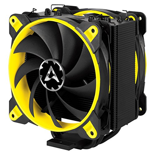 Arctic Freezer 33 Esports Edition - Tower CPU Cooler Push-Pull Configuration I Silent 3-Phase-Motor Wide Range Regulation 200 to 1800 RPM I Includes 2 Low Noise 120 mm Fans - Yellow -