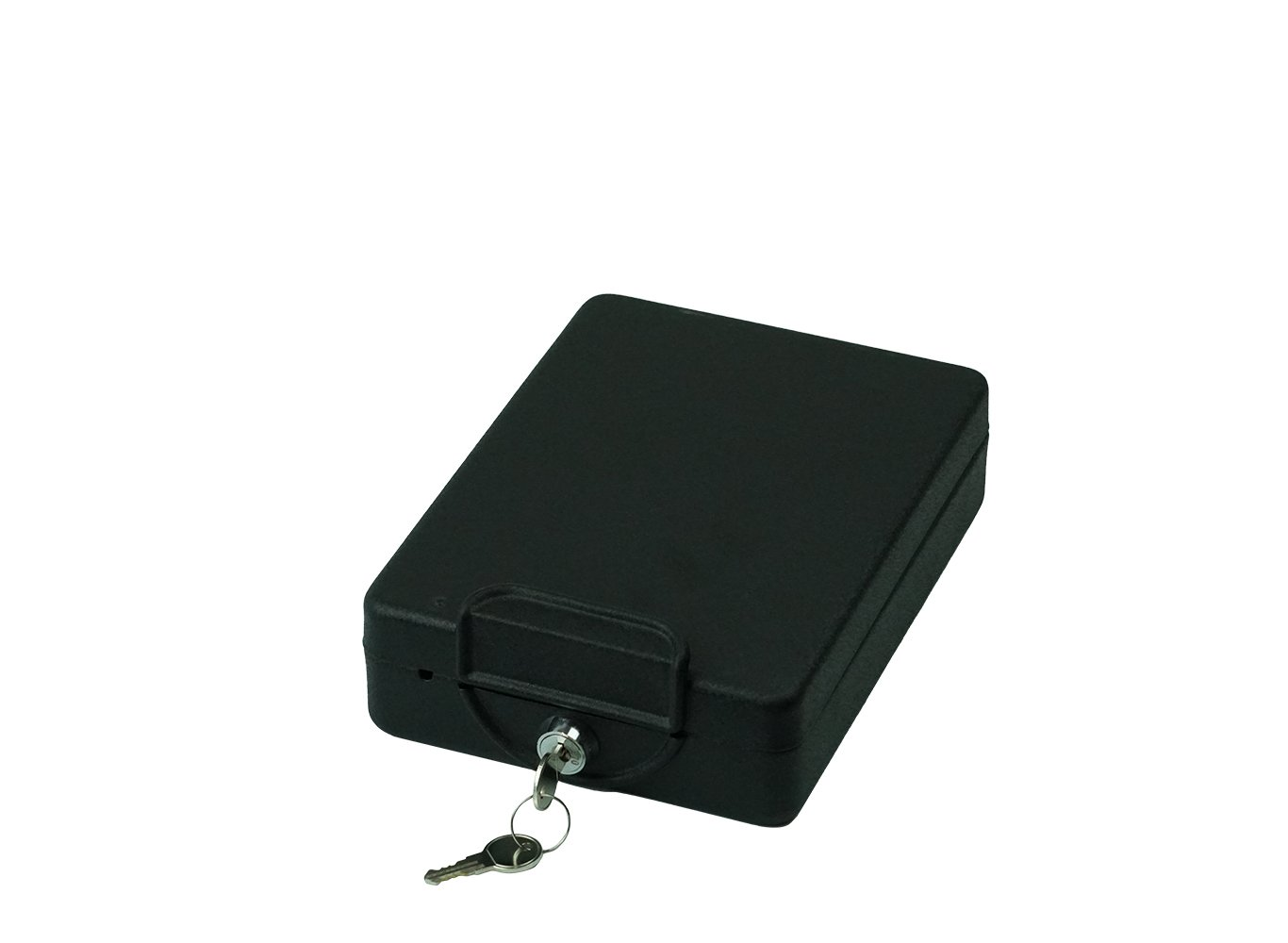 Real Work Hide-A-Way Car Safe with key lock, mounting bracket and cable