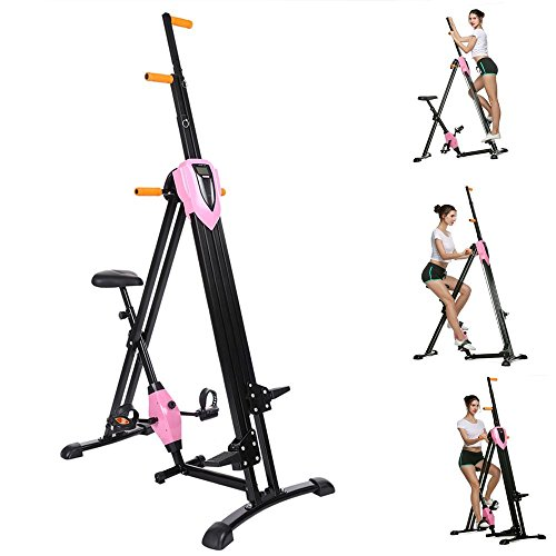 Vertical Climber Fitness Step Machines for Home Gym Exercise - 2 In 1 Climber and Exercise Bike