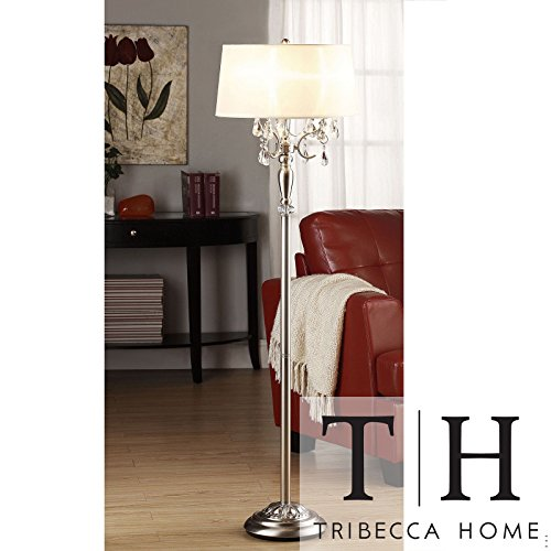 Siam Circus Tribecca Home Silver Mist 1-light Crystal Chrome Floor Lamp by Siam Circus Decor