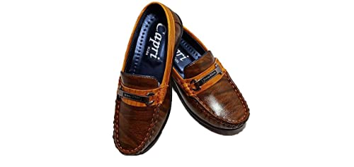 Buy FOOTONREST Boys Latest Brown Color