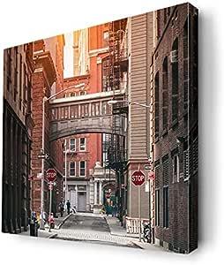 ديكالاك لوحة فنية جدارية بتصميم شارع مدينة نيويورك ، CANVS10-180124