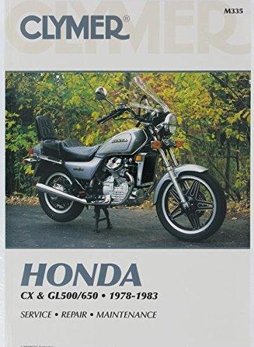 amazon com clymer repair manual for honda cx gl 500 650 twins 78 83 rh amazon com honda gl 100 service manual Honda GL 1000