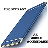 AE Mobile Accessories 3 in 1 Hard Plastic PC Electroplate Matte Back Cover for Oppo A57 - Blue