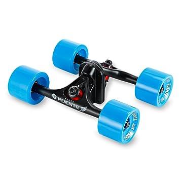 Paquete de 2 ejes de monopatín con ruedas, para monopatines tipo cruising o longboard, azul: Amazon.es: Deportes y aire libre
