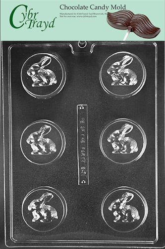 Cybrtrayd Life of the Party E471 Bunny Rabbit Cookie Easter Chocolate Candy Mold in Sealed Protective Poly Bag Imprinted with Copyrighted Cybrtrayd Molding Instructions -