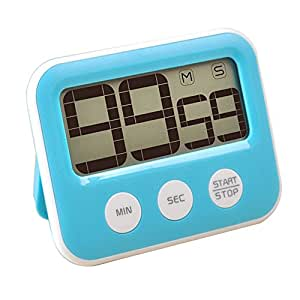 FAMICOZY Digital Kitchen Timer,Big Digits,Loud Alarm,Magnetic backing,Stand,Auto Off,Blue