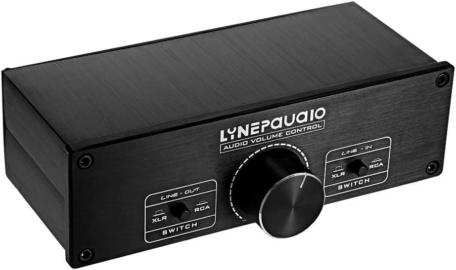 D DOLITY A967 Preamplificador Audio Estéreo Controlador de Volumen Equilibrado Completo (Modos de Conmutación XLR RCA)