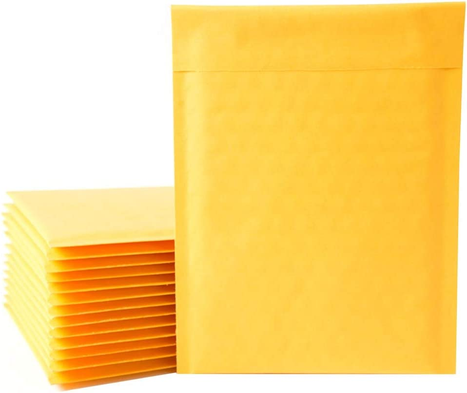 50Pcs A5 Padded Envelopes 150 x 210mm Gold Poly Bubble Mailers Self Seal Postal Bag for Gift Wrap Heavy Duty and Lightweight