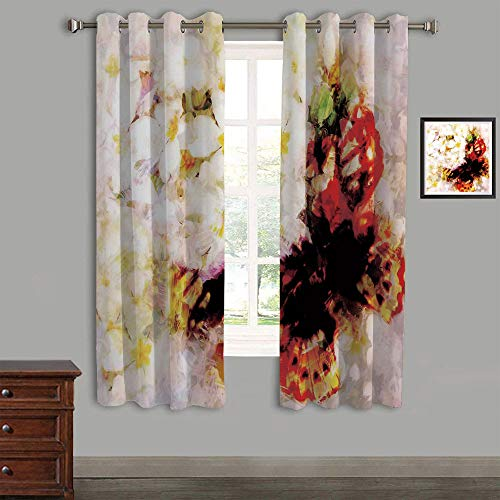 AngelSept Polyester Curtains Back Tab and Rings top Outdoor Curtains 2 Panels,105