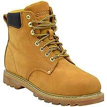 """[Patrocinado] EVER BOOTS """"Tank"""" botas de trabajo aisladas, de cuero graso, con punta suave, con suela de goma, para hombre."""