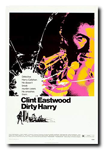 Mile High Media Dirty Harry Movie Poster 24x36 Inch Wall Art Portrait Print - Clint Eastwood