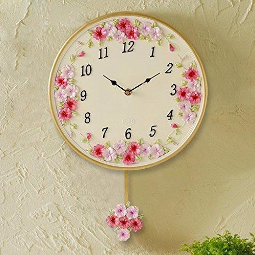 Edge To Creative Personality Clocks Garden Clocks Living Room Wall Clock Pansy Swing Decorative Clocks -