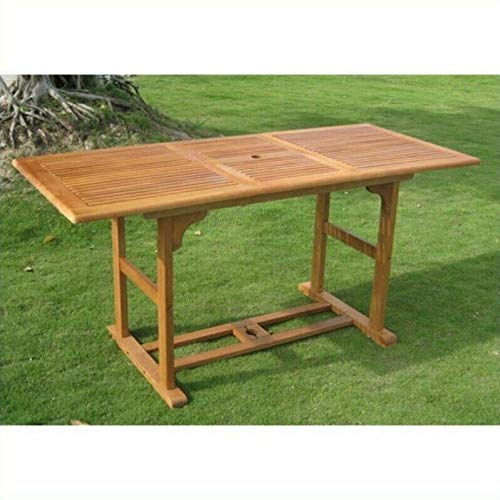 - JumpingLight Royal Tahiti Dining Table in Balau Stain Durable and Ideal for Patio and Backyard