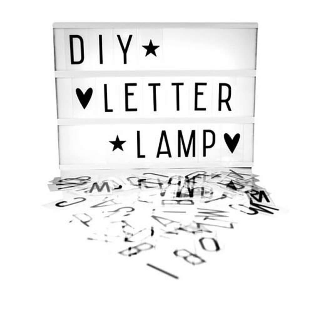 85 Caratteri Inclusi MostroMania Lampada LED Light Box Regali di Natale Lavagna Luminosa per Messaggi Idea Regalo Creativa Lampada Personalizzabile con Scritte e Messaggi