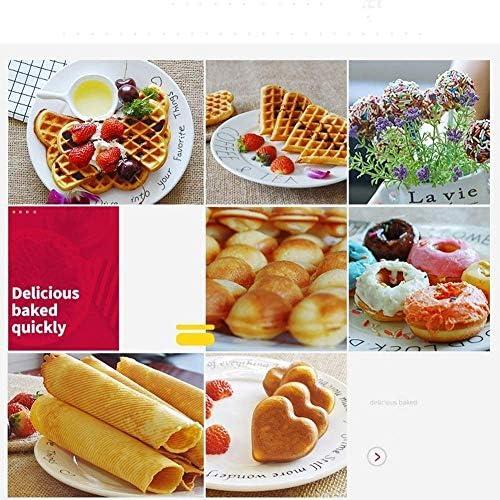 Waffle Maker Machine for Portions individuelles, paninis, Petit-déjeuner, avec Easy Clean, côtés non-Stick