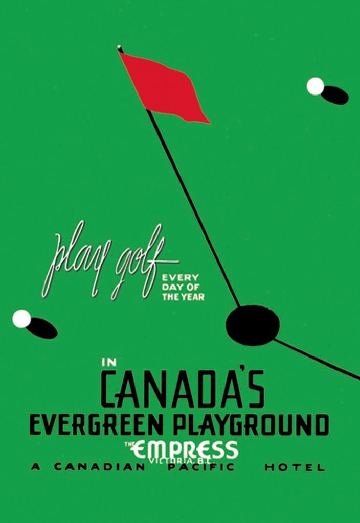 BuyEnlarge 0-587-00897-0-DC-48x32_032017 Play Golf Every Day Of The Year Canada's Evergreen Playground By Thomas Hall Wall Decal, 48'' H X 32'' W