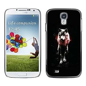 Caucho caso de Shell duro de la cubierta de accesorios de protección BY RAYDREAMMM - Samsung Galaxy S4 - OSCURO WOLF GLOW