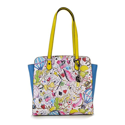 BORSA YNOT LAS VEGAS SHOPPING BAG LS-002 HIT-L YELLOW TRIMMING