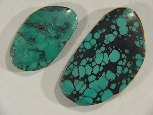 Genuine Natural Chinese Turquoise Lapidary Freeform Cabochon 9498C h