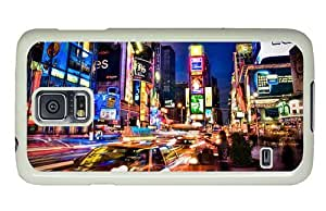Hipster Samsung Galaxy S5 Case funny cover NYC Street Lights PC White for Samsung S5