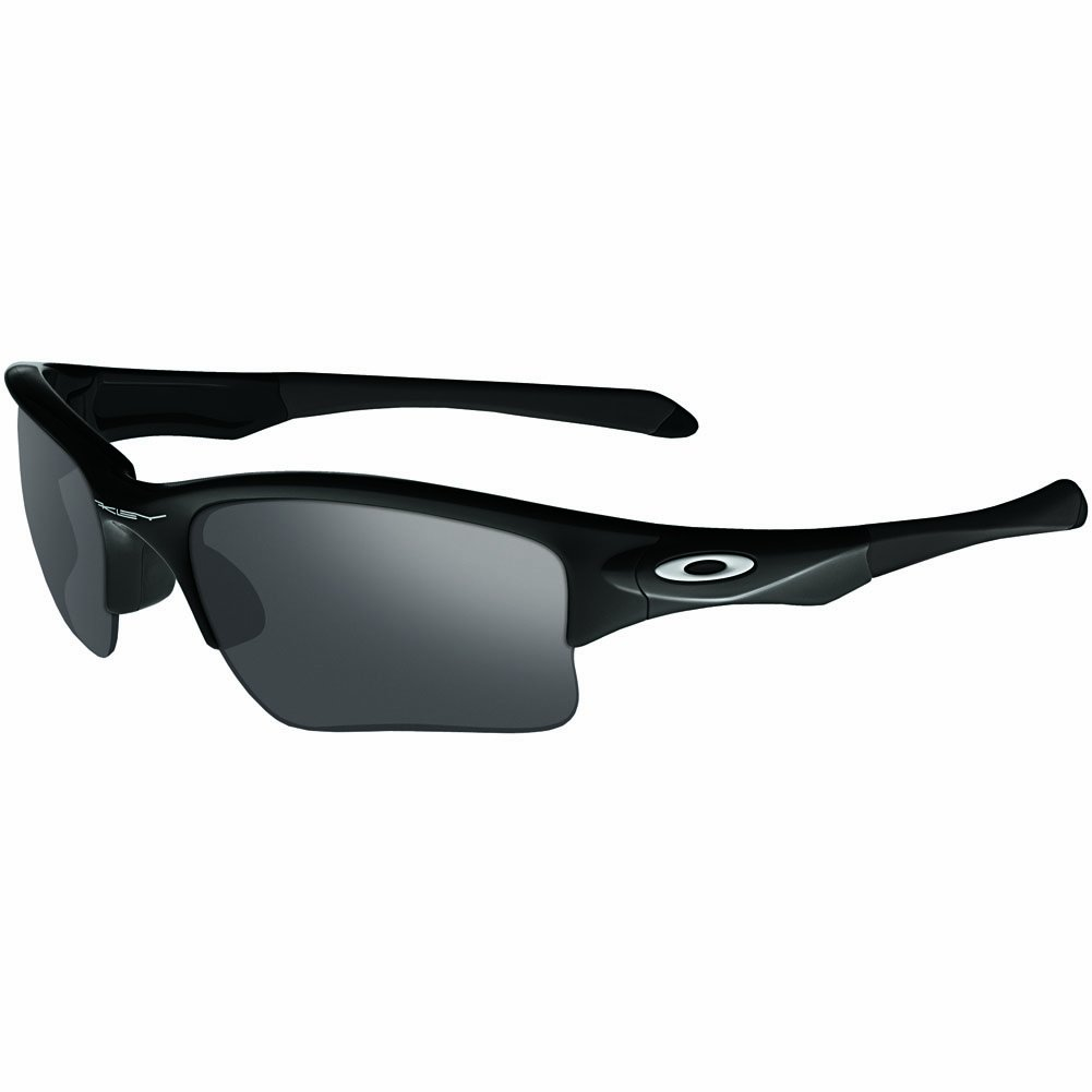Oakley Men's OO9200 Quarter Jacket Rectangular Sunglasses, Polished Black/Black Iridium, 61 mm by Oakley
