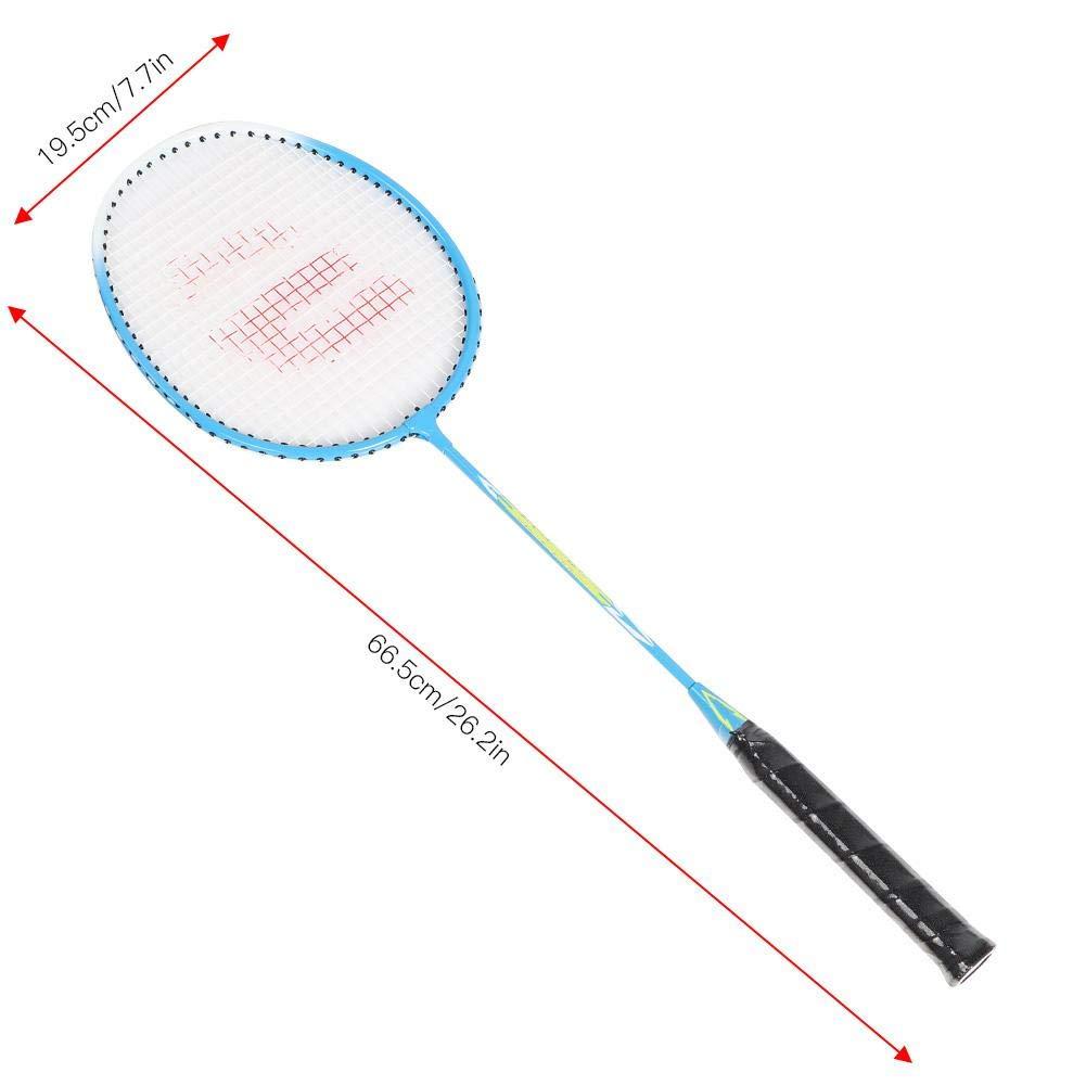 white black Avento badminton set QBS094 hard steel green yellow