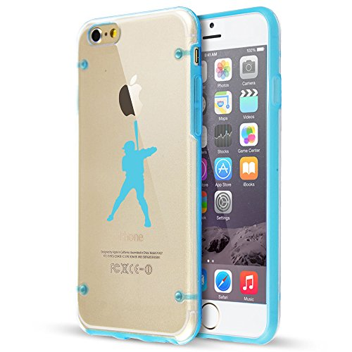 - For Apple iPhone Hybrid Slim Clear Hard TPU Bumper Case Cover Baseball Player (Light Blue For iPhone 6 Plus / 6s Plus)
