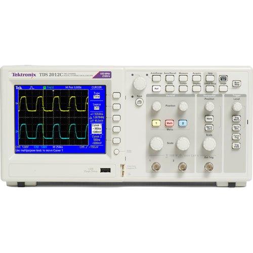 Manual Oscilloscope Tektronix (Tektronix TDS2012C 100 MHz, 2 Analog Channel Oscilloscope, 2 GS/s Sampling,)