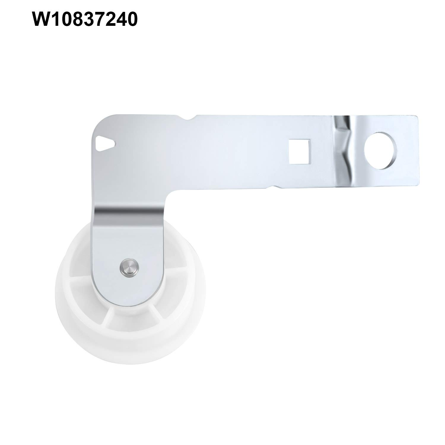 279640 Dryer Idler Pulley and W10837240 Dryer Idler Pulley with Bracket Replacement Part Kit Compatible with Maytag Hotop 661570 Dryer Drum Belt Kenmore Admiral and More